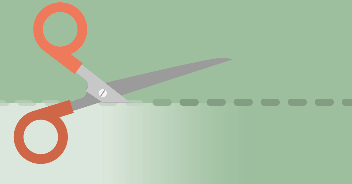 Illustration of cutting scissors