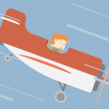 An illustration of airplane going down, symbolizing a shrinking company