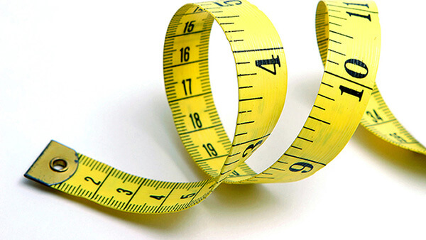 A photo of a measuring tape