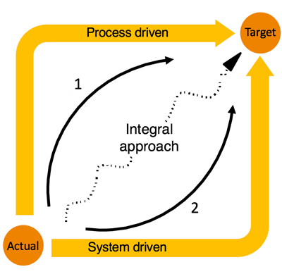 Process vs. system driven implementation