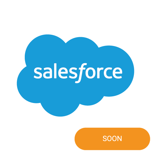 The logo of Salesforce with a soon badge