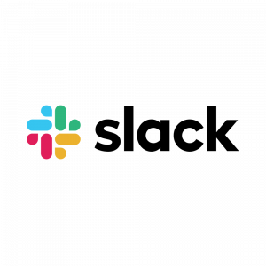 The logo of business messenger Slack