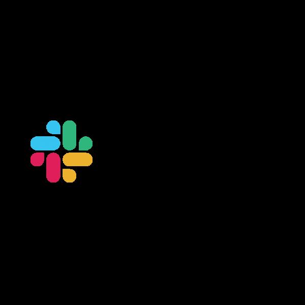 The logo of business messenger Slack