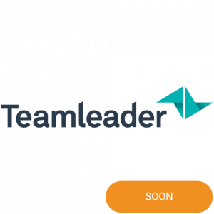 The logo of Teamleader with integration soon badge