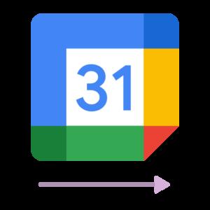 The logo of the Google Calendar 1 way sync calendar integration