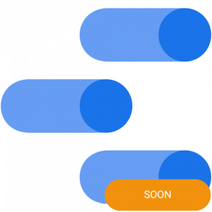 The logo of Google Data Studio with a soon badge