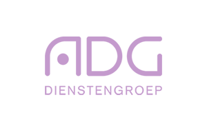 The purple logo of ADG services