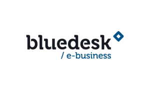The logo of online IT company Bluedesk