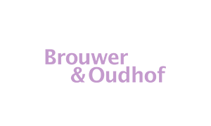 The purple logo of Brouwer and Oudhof accountants