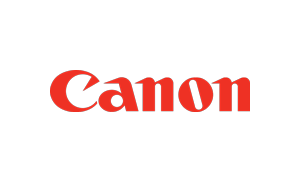 The logo of Canon