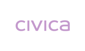 The purple logo of IT company Civica