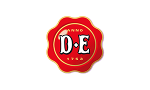 The logo of coffee maker Douwe Egberts