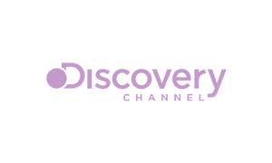 The purple logo of broadcaster Discovery Channel