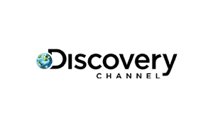 The logo of broadcaster Discovery Channel