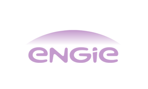 The purple logo of technical service provider Engie