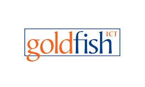 The logo of IT company Goldfish
