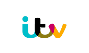 The logo of broadcaster itv