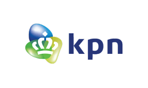 The logo of utility company KPN