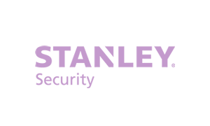 The purple logo of Stanley security