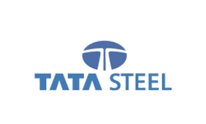 The logo of steel producer Tata Steel