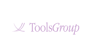 The purple logo of supply chain planner Tools Group