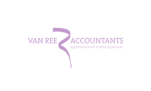 The purple logo of Van Ree accountants