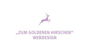 The purple logo of webdesign company Zum Goldenen Hirschen