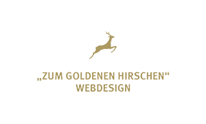 The logo of webdesign company Zum Goldenen Hirschen