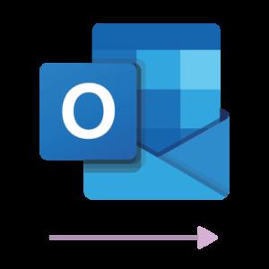 The logo of the Microsoft Outlook 1 way sync calendar integration
