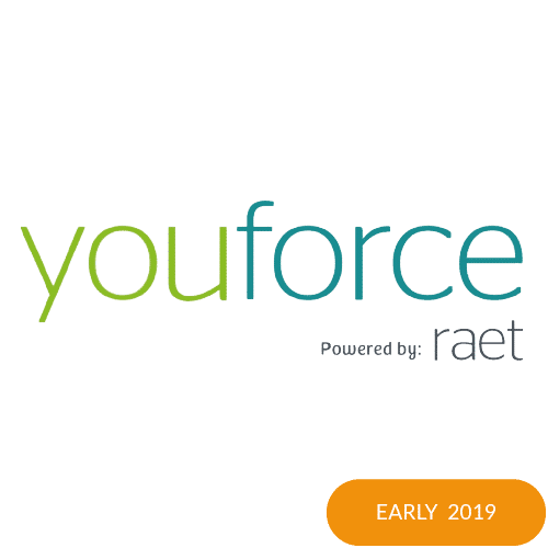The logo of Youforce with an early 2019 badge