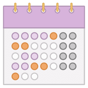 An illustration of a calendar with a simple project planning