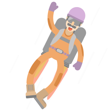 An illustration of a man with a jetpack on his back